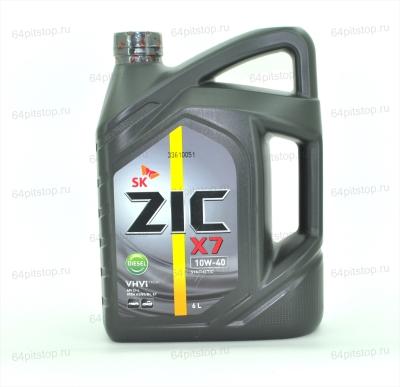Моторное масло ZIC X7 DIESEL 10W-40 64pitstop.ru