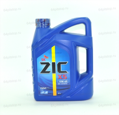 Моторное масло ZIC X5 10W-40 64pitstop.ru