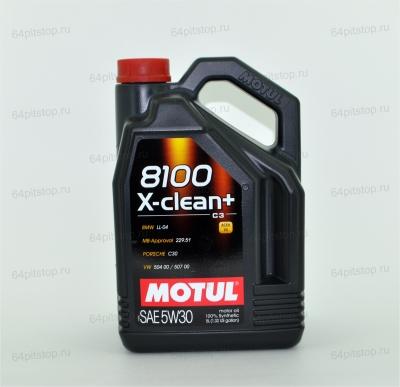 MOTUL 8100 X-CLEAN+ 5W-30 64pitstop.ru