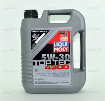 liqui moly top tec 4300 5w-30 64pitstop.ruмоторные масла