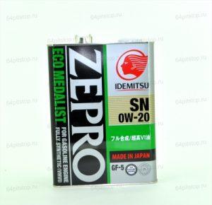 Zepro Eco Medalist моторное масло 0w-20 64pitstop.ru