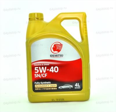 IDEMITSU 5W-40 SN/CF моторные масла 64pitstop.ru